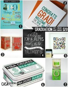 You Did It! Seven Graduation Gift Ideas $20 and Under #graduation #giftideas