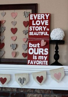 This would be cute in colors that matched your house with a picture of you and your true love.