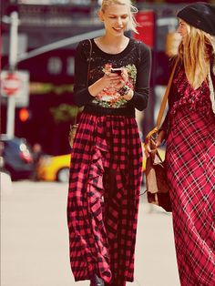 Free People In Bloom Flannel Maxi, 258.00