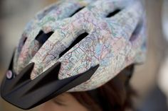 how to decoupage a bike helmet. doing this.