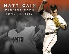 Matt Cain is the first SF Giant in franchise history to throw a PERFECT GAME!