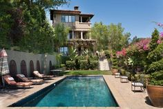 The 7,607-square-foot Spanish-style home is gated, with views of Catalina Island.
