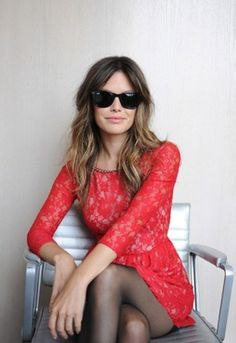 rachelbilson, hair colors, red, ombre hair, outfit, style icons, the dress, rachel bilson, lace dresses