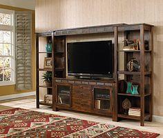 fe furnitur, open shelves, wood construct, fe collect, furnitur collect, santa fe, decor idea, entertainment centers