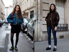 fashion ideas, style inspir, 50s feel, pari, fashion blogs, socks, street styles, bomber jackets, shoe