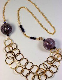 Chain and Bead Chunky Necklace
