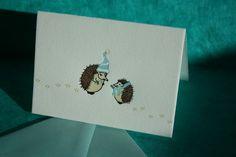 hedgehog christmas card!