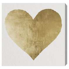 love this gold heart canvas