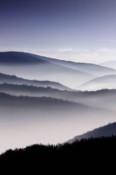 Fog over mountains #photos #nature #beauty #surreality