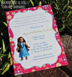 girl parti, doll parti, birthday party invitations, prissi parti, girls birthday parties, 8th birthday, parti idea, american girl birthday