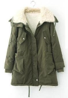 Beautiful Army Green Coat