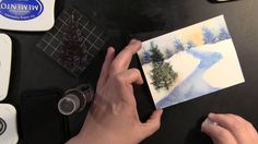 PB&J Watercolor Winter Scene