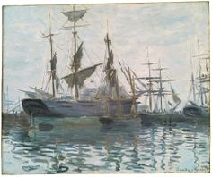 Claude Monet, Ships in a Harbor, about 1873.