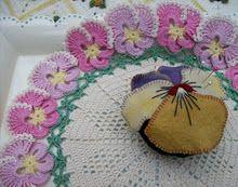 Gorgeous pansy pincushion