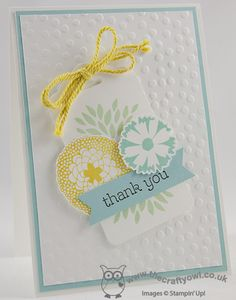 Thank You Petal Parade Class Card Petal Parade, happy Watercolour, Scalloped tag Topper Punch, Sweet Sorbet Accessory Pack, Decorative Dots TIEF, Joanne James UK Independent Stampin' Up! Demonstrator, blog.thecraftyowl.co.uk