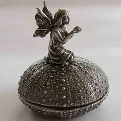 Pewter Angel Trinket Box