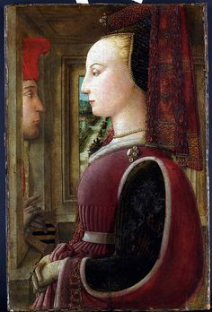 Portrait of a Woman with a Man at a Casement Fra Filippo #Lippi (Italian, Florence ca. 1406–1469 Spoleto) ca. 1440 . MET, NYC by renzodionigi, via Flickr #renaissance #art