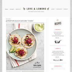Love & Lemons - beautiful blog design that will make even me cook