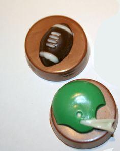 Superbowl Chocolate Covered Oreos