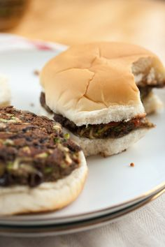 Produce On Parade - Simple Black Bean Zucchini Burgers