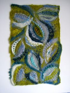 Embroidered felt.