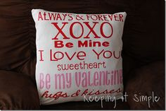 valentine pillow from Keeping it Simple