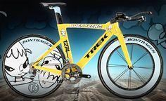 trek bicycl, bicycles, bike design, artist yosimoto, armstrong stage, yoshitomo nara, tt bike, speed concept, lanc armstrong