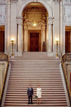 inspiration   city hall wedding photo