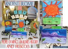 Hands-on Activity. Make a Fresco when studying about Rome