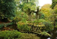 Beautiful fairytale garden with 'ruins'...