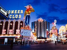 Some Vintage Las Vegas neon signs, Fremont Street b.c. (before canopy)