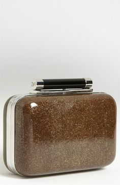 Diane von Furstenberg 'Tonda - Small' Glitter Leather Clutch available at #Nordstrom