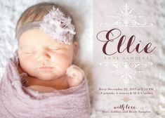 Baby Girl Birth Announcement.