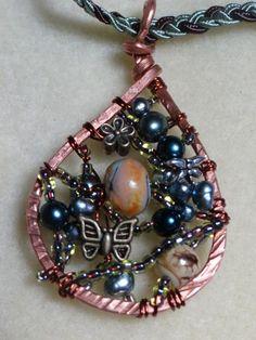 Copper Tear Drop Pendant on Handmade Artists' Shop