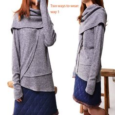 4 Skies Poetic Knits Sweater Y3125 by idea2lifestyle on Etsy... this looks so comfy, I'm tempted to get it.