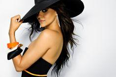 Tia Mowry wearing an Eric Javits hat // 2012