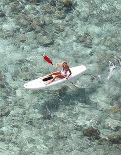kayak in clear water #kayak #kayaking #kayaker