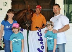 Team I'll Have Another invites Make A Wish Foundation recipient Hope Hudson to join them for the Preakness after she shares their Kentucky Derby win. Wonderful story!