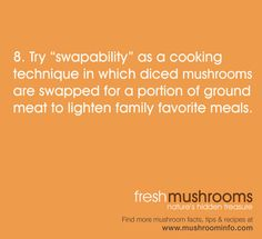 It's National Mushroom Month! Have you tried swapability? #WFD2012 #IAmVegetable