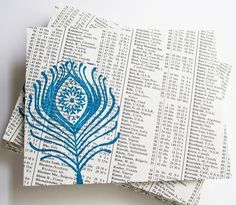 upcycling old newspaper for envelopes!