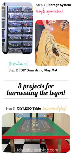 Projects for organizing LEGOS