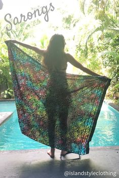 Beautiful Ladies hand-stamped Sarong (Batik Style) features. Beautiful Beach Bikini Cover, even use as beach towel, wall hanging or table cloth. Many styles to choose from. You will receive many compliments wearing this beautiful pareo. #sarong #beachcoverup #handpaintedsarong #batiksarong #bikinicover #luauparty #cruisewear #cruise #beach #vacation #springbreak