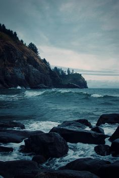 washington state, blue, the ocean, wave, sleeping with sirens, lighthous, sea, oregon coast, place