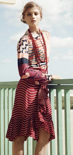 www.fashion2dream.com Tory Burch Spring 2012 Lookbook: Print-On-Print
