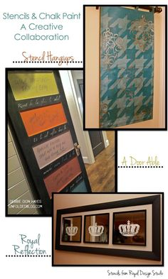 Chalk Paint and Stencil projects with Royal Design Studio