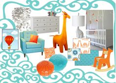 Some ideas for our new baby boy's modern safari nursery