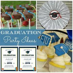 Graduation Party Ideas and FREE Printables #graduation #party