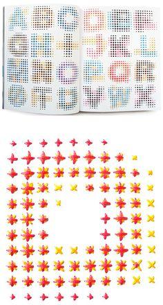 evelin kasikov - embroidered cmyk alphabet