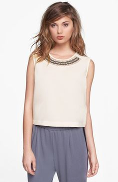 "Nordstrom Embellished Collar Shell, $54: ""I'll be spending Thanksgiving in Florida (I know. I'm sorry.) so I'll be taking advantage of the warmer weather by ditching my sweaters for a cute embellished top."" - Tyler"