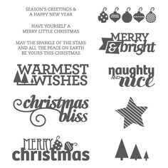 Christmas Bliss Photopolymer Stamp Set by Stampin' Up!